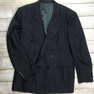 CHRISTIAN DIOR Double Breasted Windowpane blazer